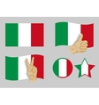 Italy flag icons set vector image vector image
