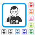 jobless framed sad icon vector image vector image