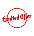 limited offer sign limited offer round vintage vector image vector image