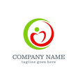 love circle swoosh company logo vector image vector image