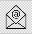 mail envelope icon email flat e-mail business vector image