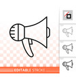 megaphone simple black line speaker icon vector image vector image