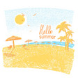 nature tropical beach with beach umbrellas and vector image vector image