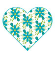 pattern shape heart flower spring ornament image vector image