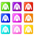pullover set 9 vector image vector image
