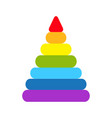 pyramid icon children colorful plastic toy vector image