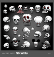 Set of skulls vector | Price: 1 Credit (USD $1)