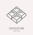 simple logo template chocolate bar vector image vector image
