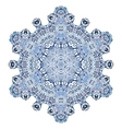 Six-pointed snowflake pattern vector image