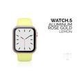 smart watch with lemon color bracelet realistic vector image