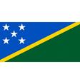 solomon islander flag vector image vector image