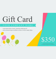style gift voucher card collection vector image vector image