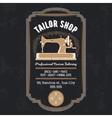 tailor emblem signage vector image vector image