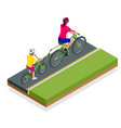 trailer cycle or bicycle attachment co-pilot vector image