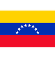 Venezuelan civil flag vector image