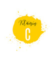 vitamin c watercolor logo yellow ink splash with vector image