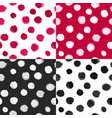 watercolor polka dot patterns black white vector image