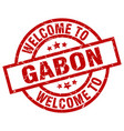 welcome to gabon red stamp vector image vector image