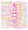 Why Should You Get An Online College Diploma text vector image vector image