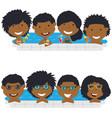 young african american teens having fun in vector image
