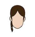 young woman funny smiling character people vector image vector image