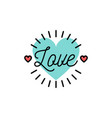 love text wedding and valentines day icons love vector image