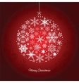 Christmas ball of the Snowflakes vector image