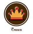 Crown design vector image