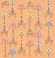 seamless colorful ethnic pattern with vector image