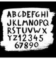 abc brush vector image