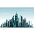 abstract futuristic city made with triangle vector image vector image