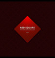 abstract red square border seamless pattern vector image