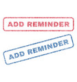 add reminder textile stamps vector image vector image