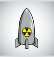 atomic nuclear bomb icon vector image