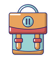 backpack luggage icon cartoon style vector image vector image