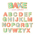 baked color letters christmas gingerbread cookies vector image vector image