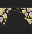 balloon of happy new year gold and black colors vector image vector image