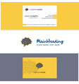 beautiful brain logo and business card vertical vector image vector image