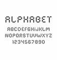 Black of font and alphabet