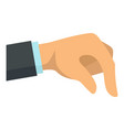 businessman hand take icon flat style vector image