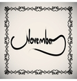 Calligraphic elements month - black design vintage vector image vector image