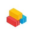 Cargo containers icon isometric 3d style vector image vector image