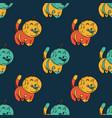 cat astronaut seamless pattern vector image