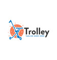 children trolley logo with letter k vector image