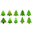 christmas tree in different styles set vector image