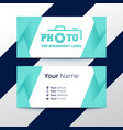 creative and professional business card design vector image vector image