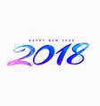 creative happy new year 2018 design vector image vector image