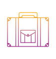 degraded line briefcase journey travel tourist vector image vector image