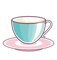 delicious coffee drink isolated icon vector image vector image