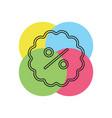 discount sale icon vector image